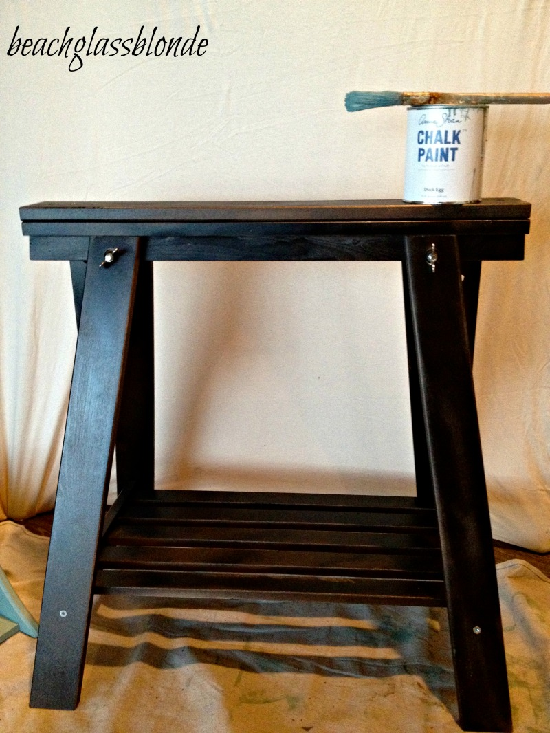how to make a sawhorse table
