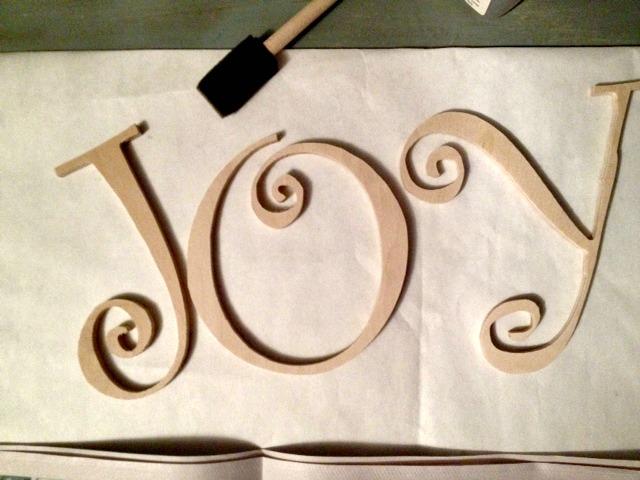 JOY raw letters