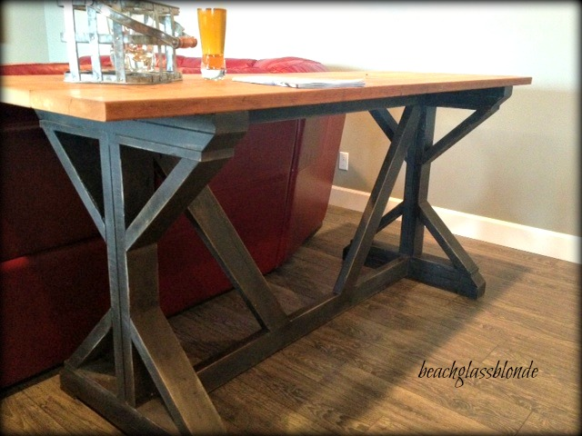 Superior Upcycle Bar Table Beach Glass Upcycle Bar Table Watchthetrailerfo Kitchen Bar  Tables Foter How To Make ...