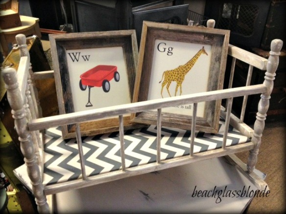 doll cradle & alphabet frames