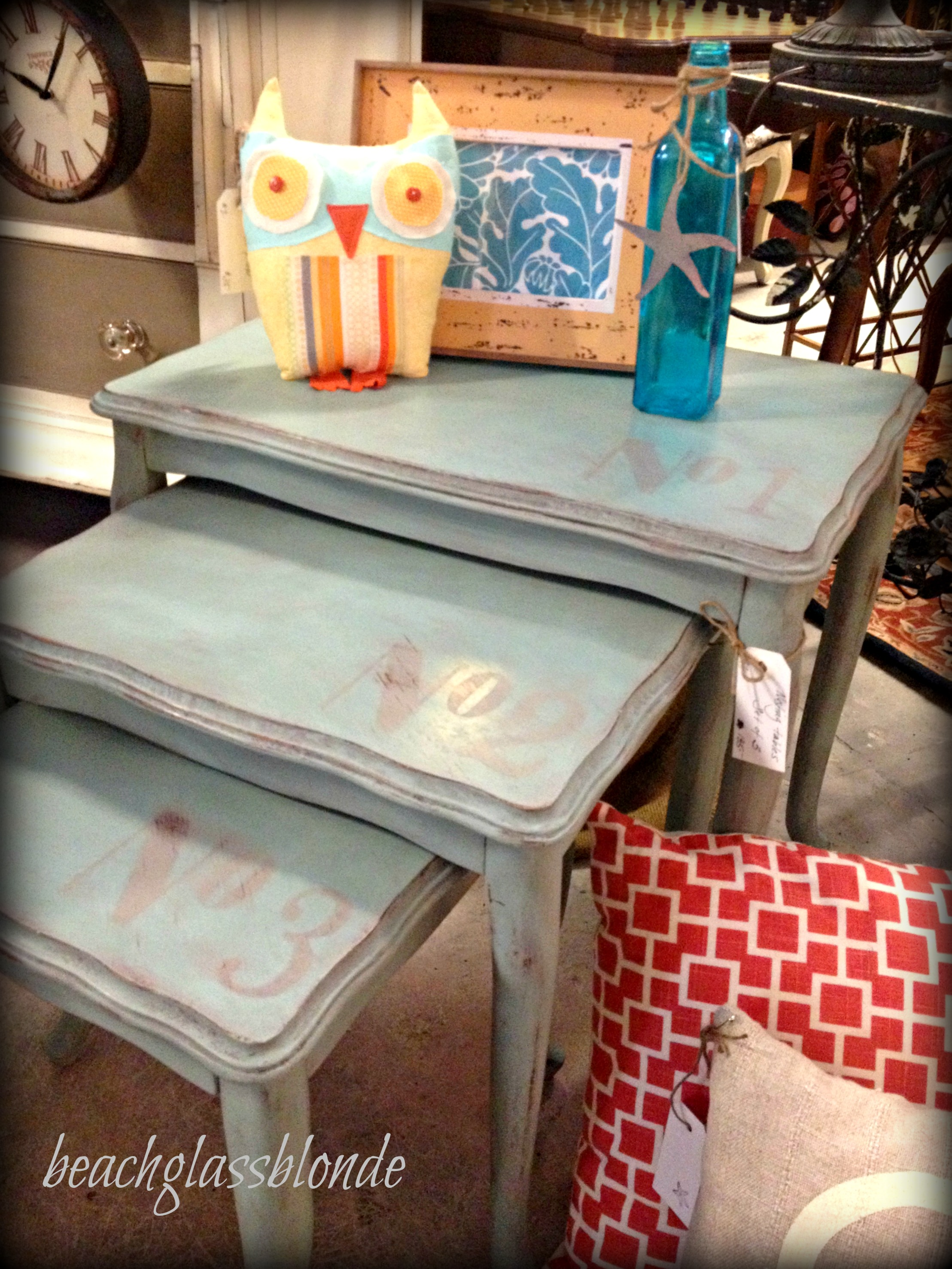 nesting tables in shop
