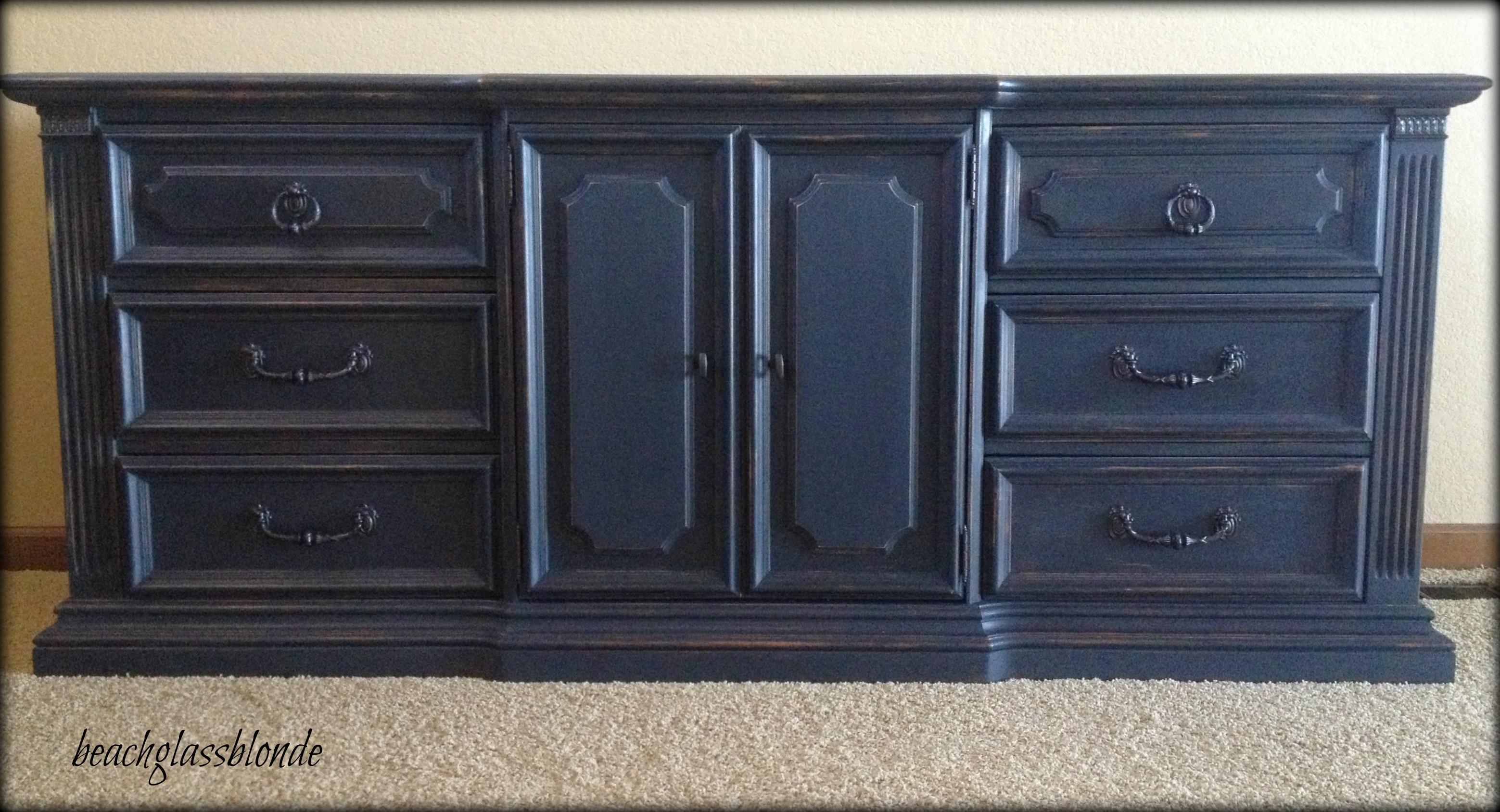 painting furniture black